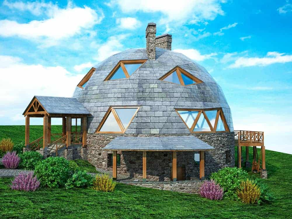 Cool geodesic house