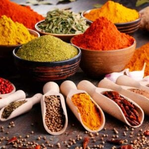 Different types of spices of the table apr18
