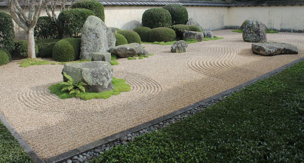 Japanese Zen garden at the Hamilton Gardens, New Zealand