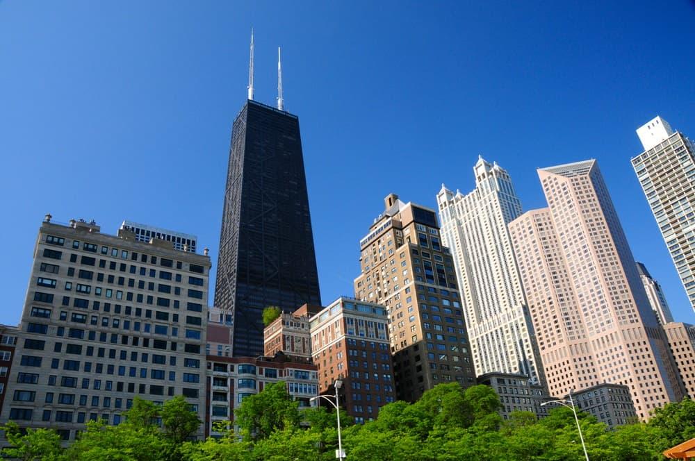 John Hancock building on Michigan Ave in Chicago, IL