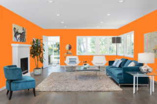 Orange living room - RGB: R253G128B38