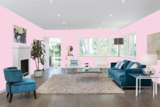 Pink living room - RGB: R247G212B226