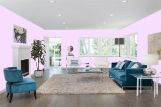 Light purple living room - RGB: R247G222B255
