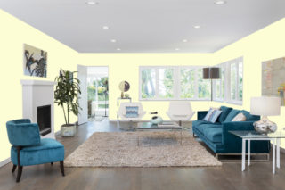Light yellow living room - RGB: R253G253B213