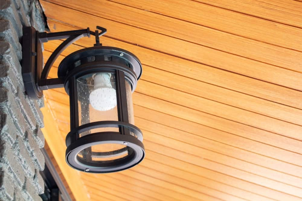 A Lantern Sconce on a Wall