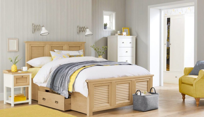 Large bed with comfortable mattress in primary bedroom