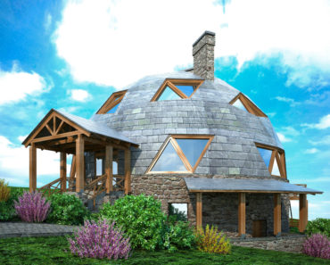 Large custom geodesic house