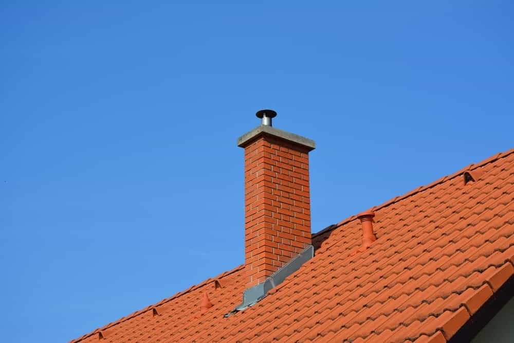 Brick Styled Masonry Chimney