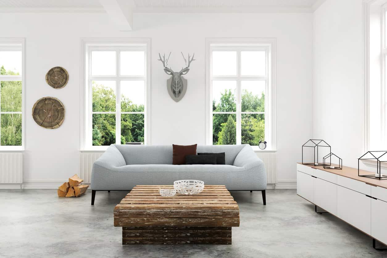 Minimalist living room interior design
