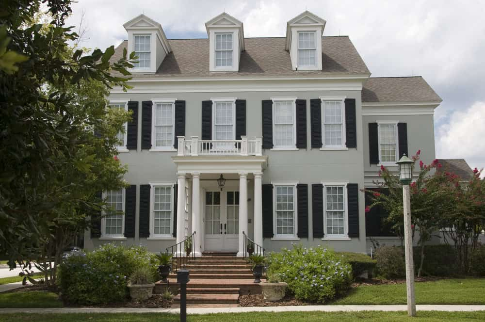 Nice colonial house with dormer windows