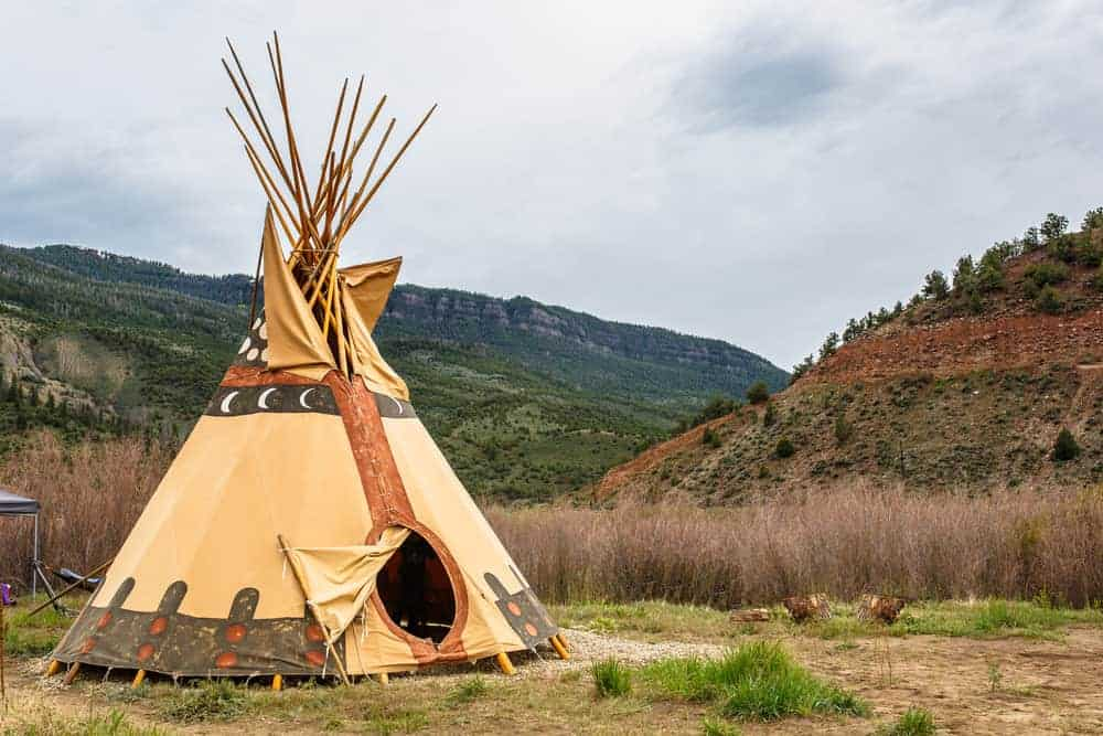 Teepee on the plains in the USA