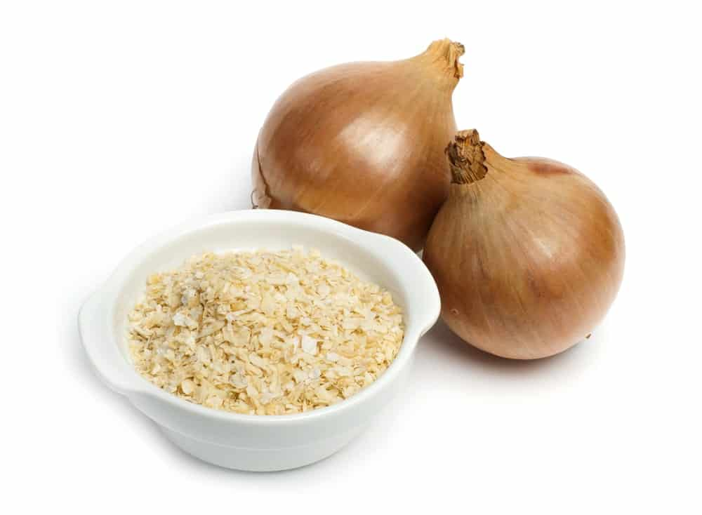 Mature Onion with a Bowl of Dried Onion