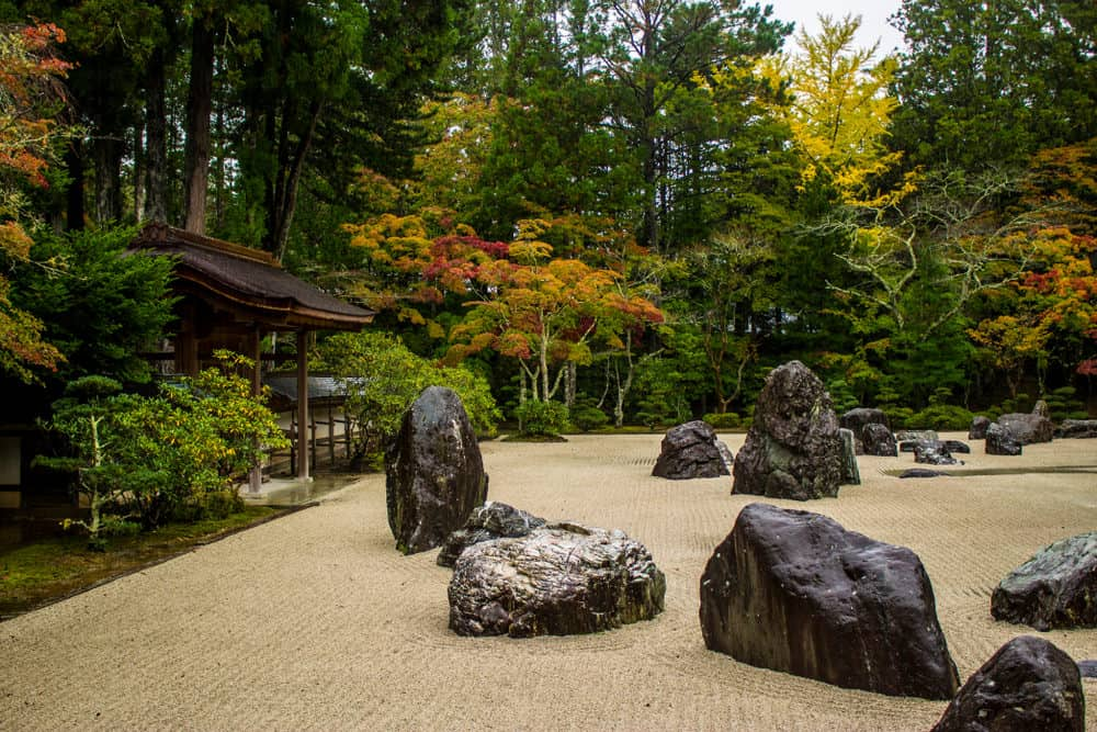 Zen garden in the temples of Koyasan. World Heritage Site. Wakayama, Japan