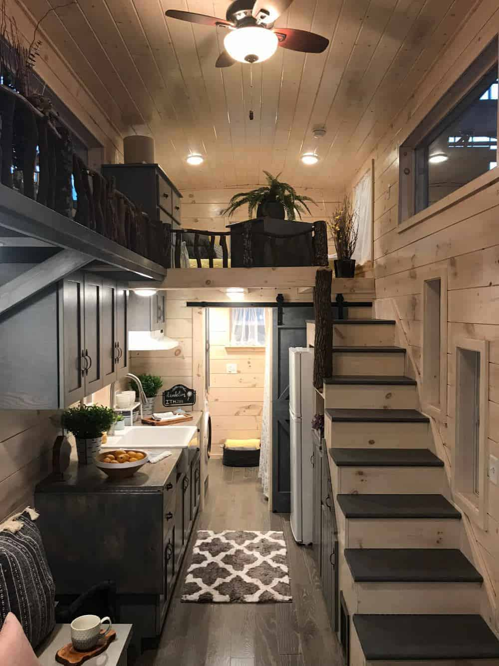 Spacious kitchen in tiny home by Incredible Tiny Homes