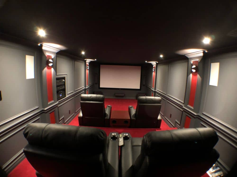 DIY Home Theater with Stadium Seating, Projector and ...
