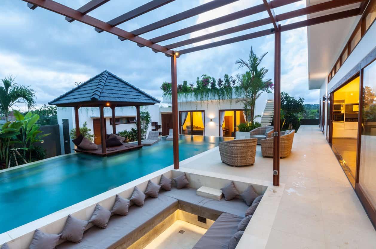 50 Swimming Pool House, Cabana and Pergola Ideas (Photos) on Patio Cabana Ideas id=89367
