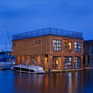 Magnificent floating home on Lake Union, Seattle, WA designed by Designs Northwest Architects.