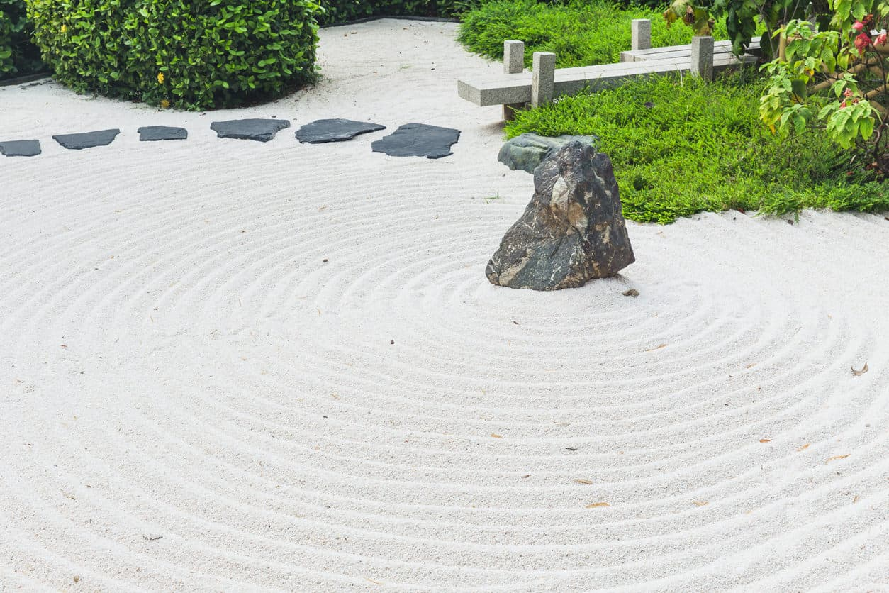 Zen Garden japanese style of stone garden way of peace