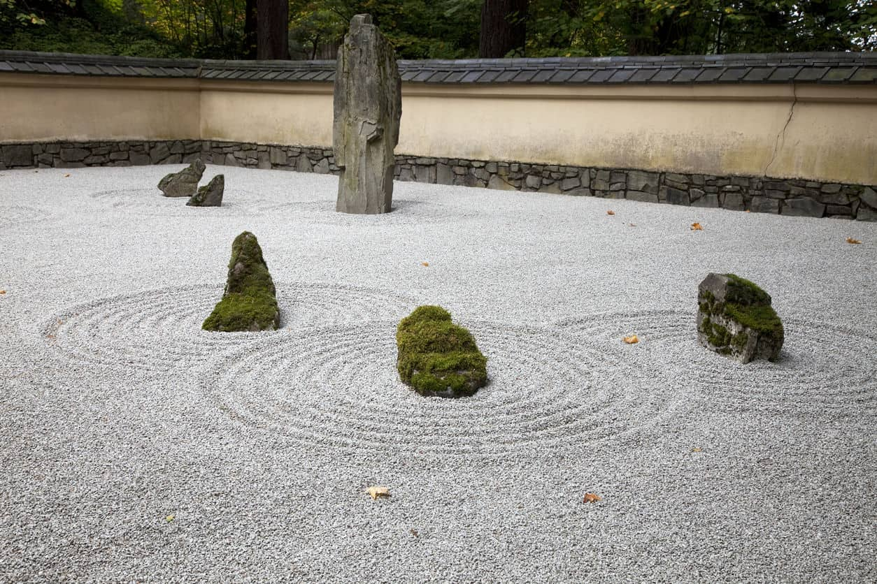 Portland Japanese Garden, Sand and Stone Zen Garden, Oregon State, USA
