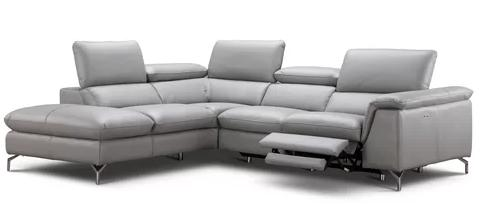 Dupont Leather Recliner Sectional