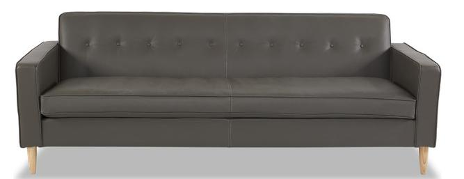Eleanor Midcentury Modern Aniline Leather Sofa