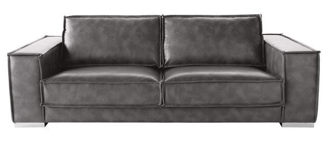 Sunpan Club Collection BarettoLeather Sofa