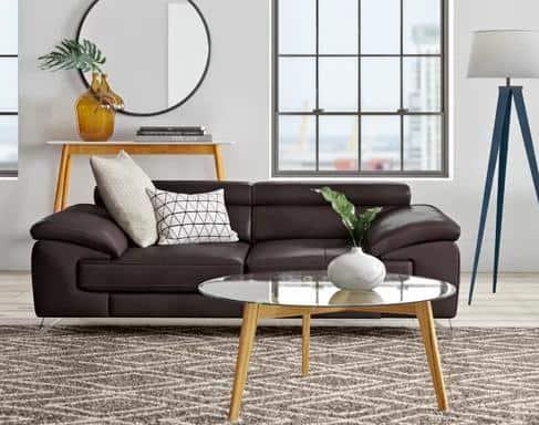 Twinning Italian Leather Sofa