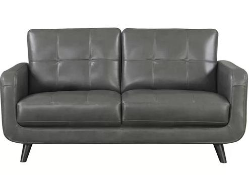 Basilica Genuine Leather Loveseat
