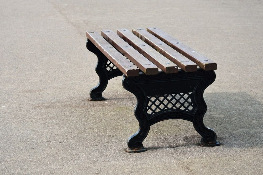 A backless bench for garden