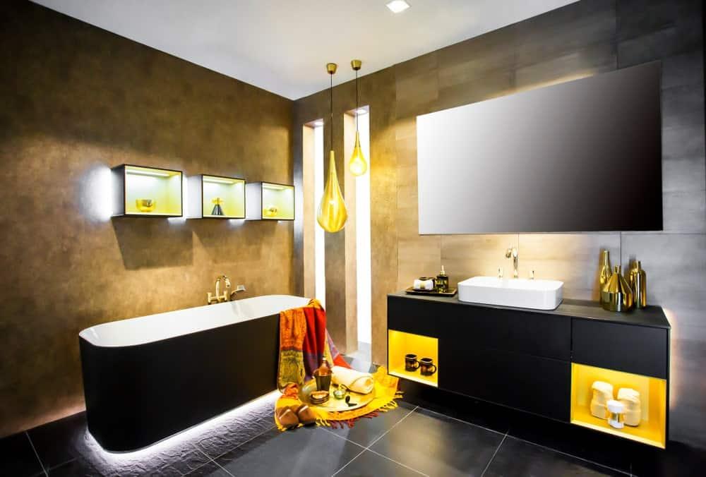 Bathroom cabinets light