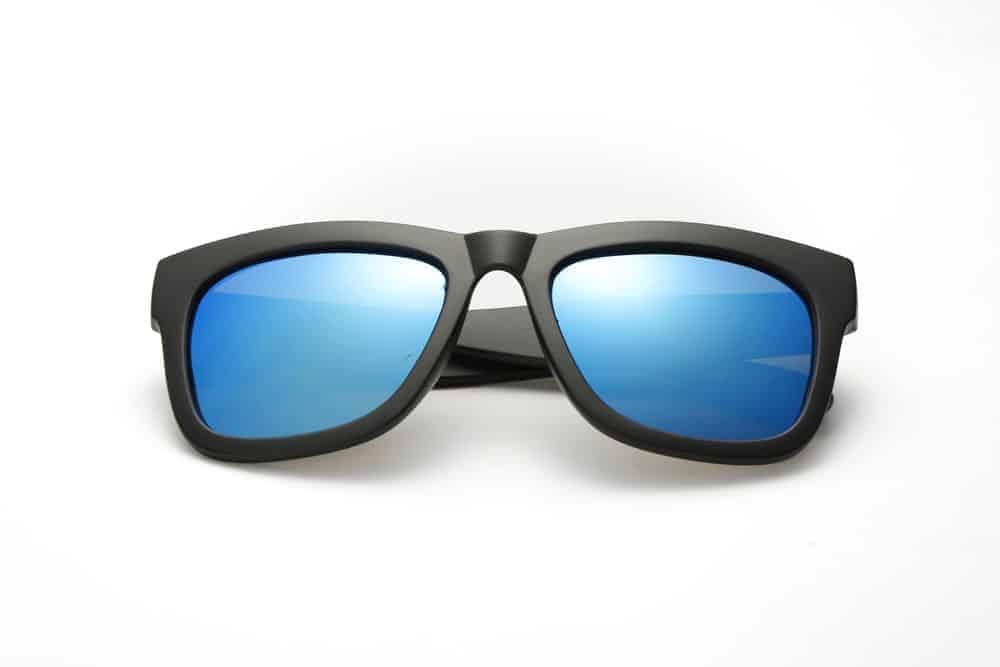 Blue-colored glasses