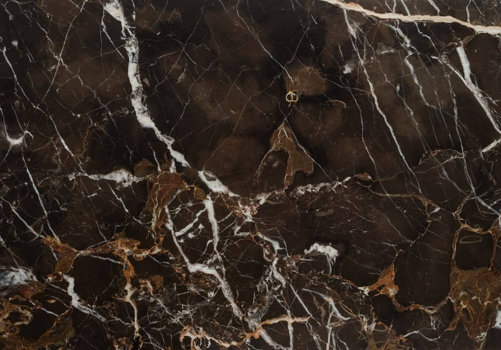 Beautiful Brown Marble Stone tile with gray-white veins