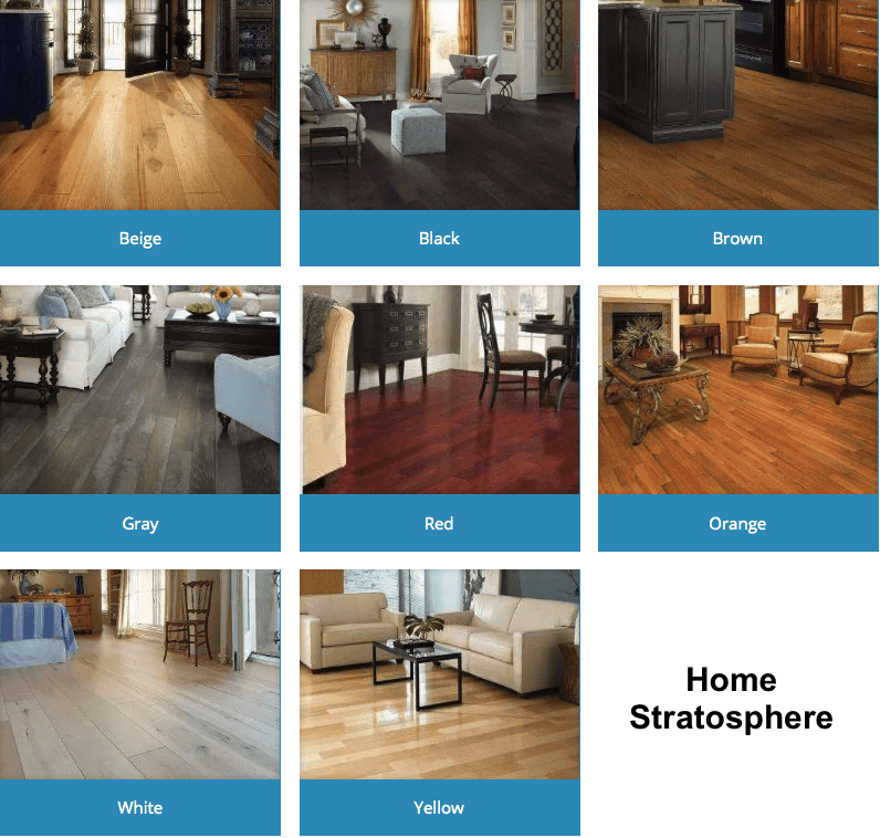 Color options for engineered wood flooring