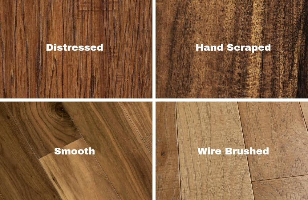 Different engineered wood textures