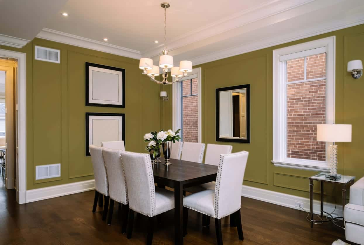 Taupe Dining Room Interior - Pantone 119