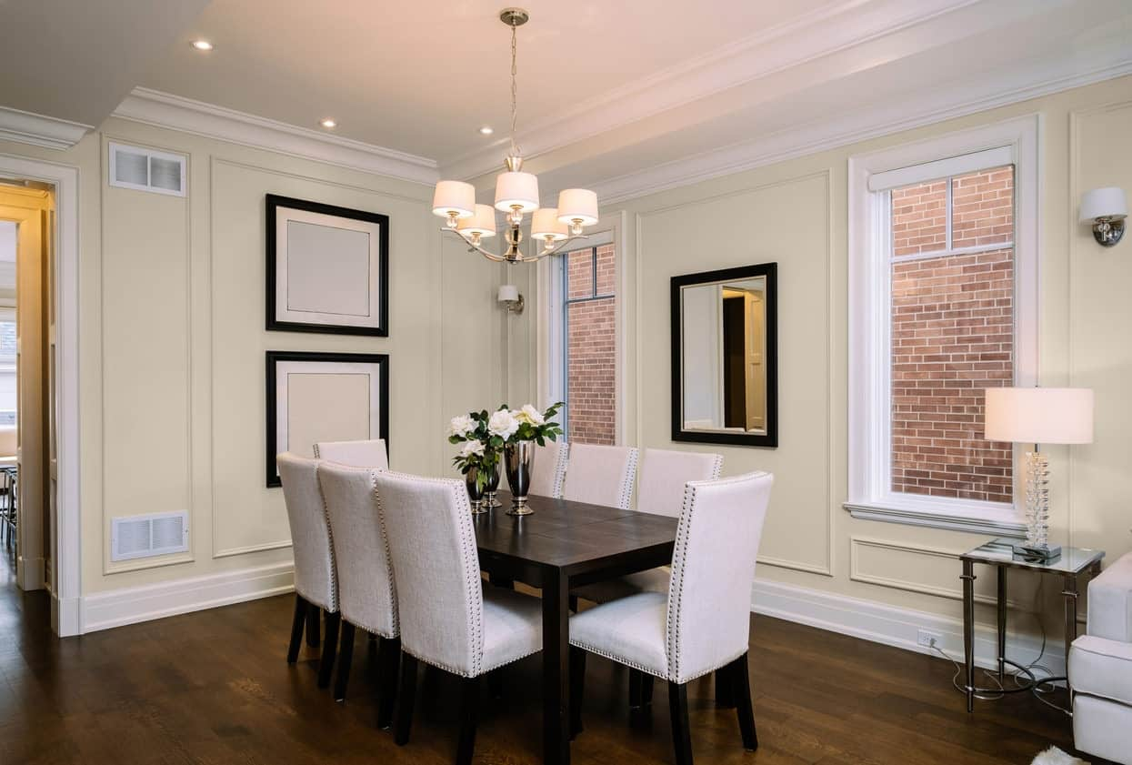 Light Beige Dining Room Interior - Pantone 400