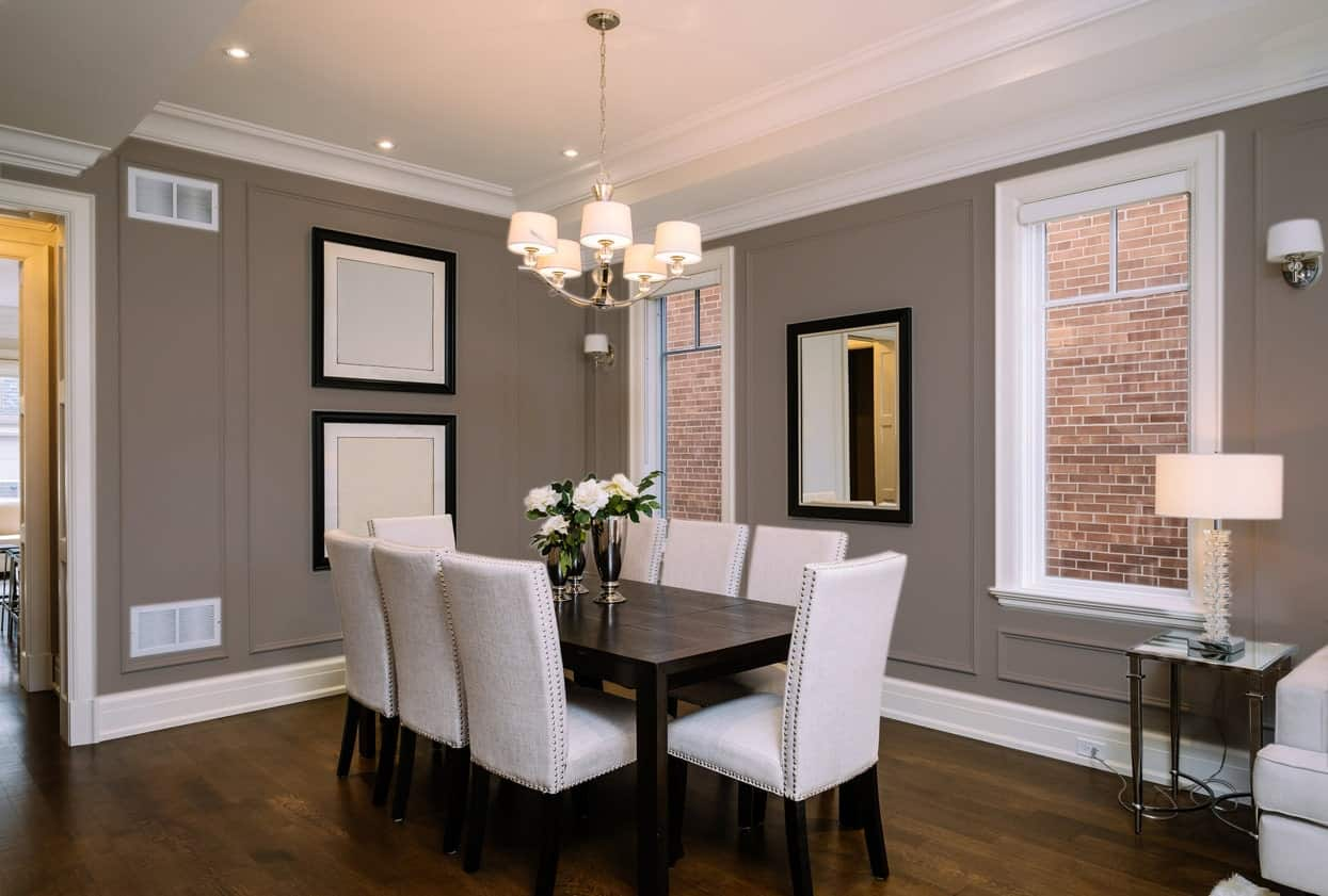 Dark Beige Dining Room Interior - Pantone 404