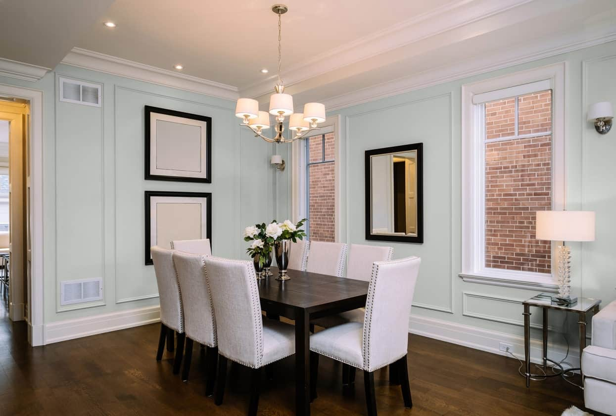 Gray Dining Room Interior - Pantone 429