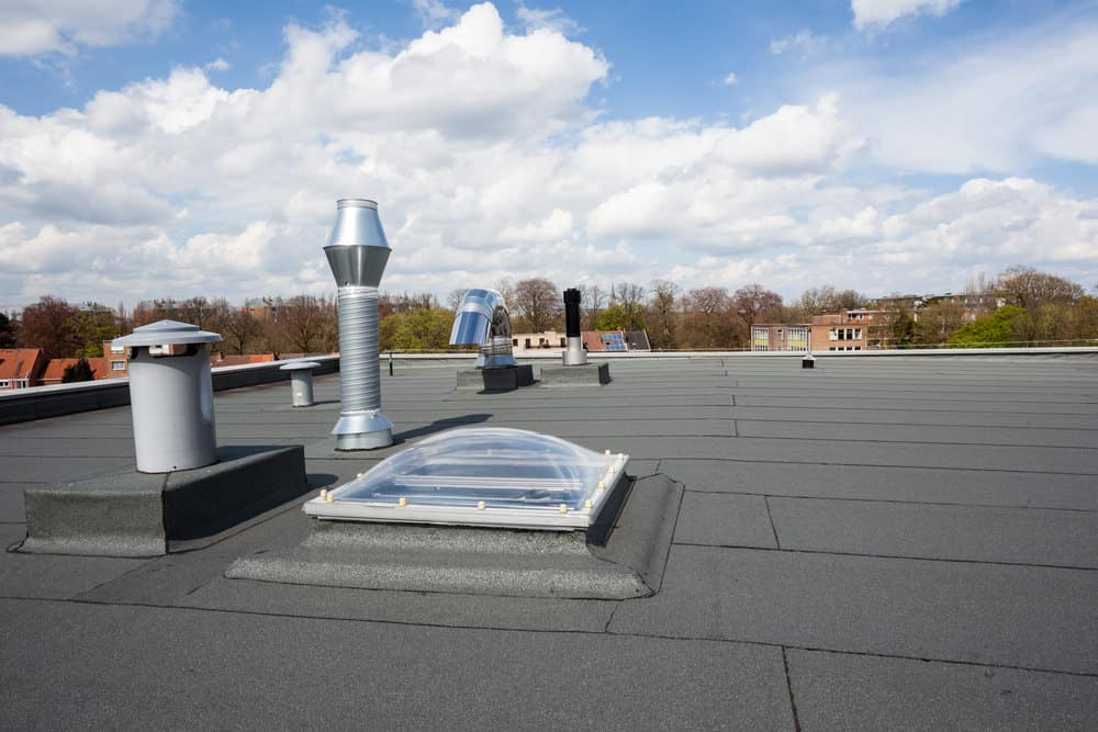 Example of a flat roof