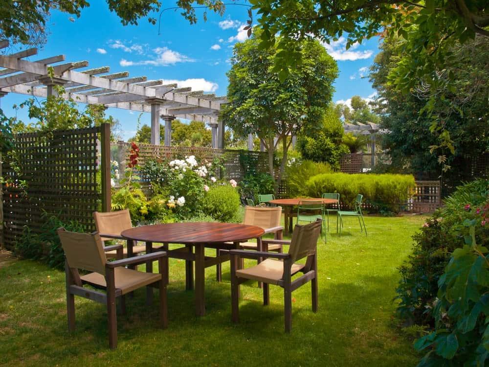 Wooden dining set for garden