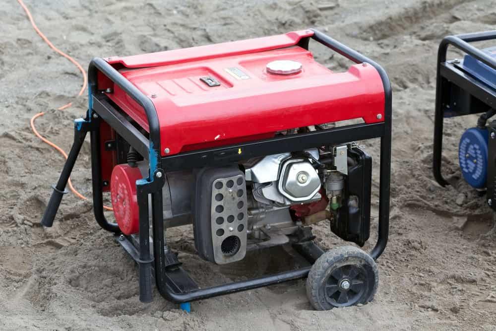 Generator Kept Outdoors