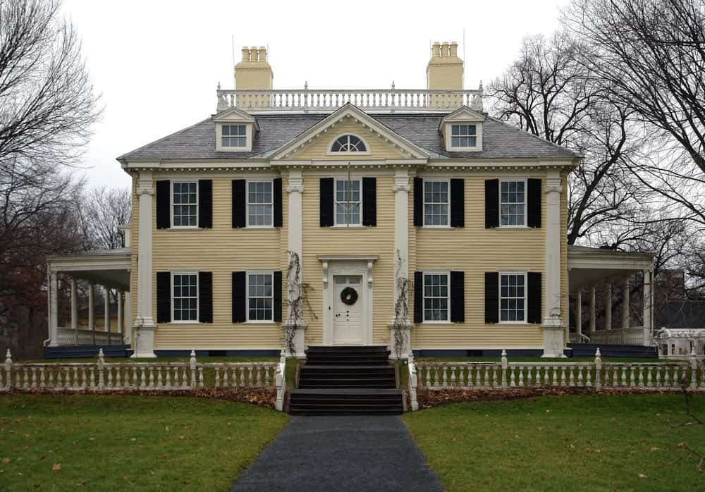 Historic Longfellow House in Cambridge (Massachusetts, USA)