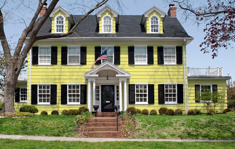 Yellow House Exterior - Pantone 100