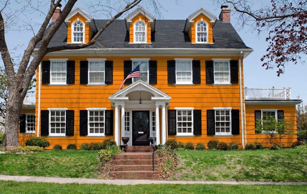 Orange house exterior color - Pantone 151
