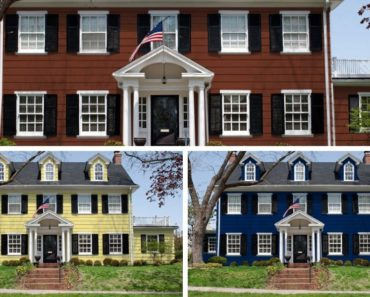 House exterior colors compared collage