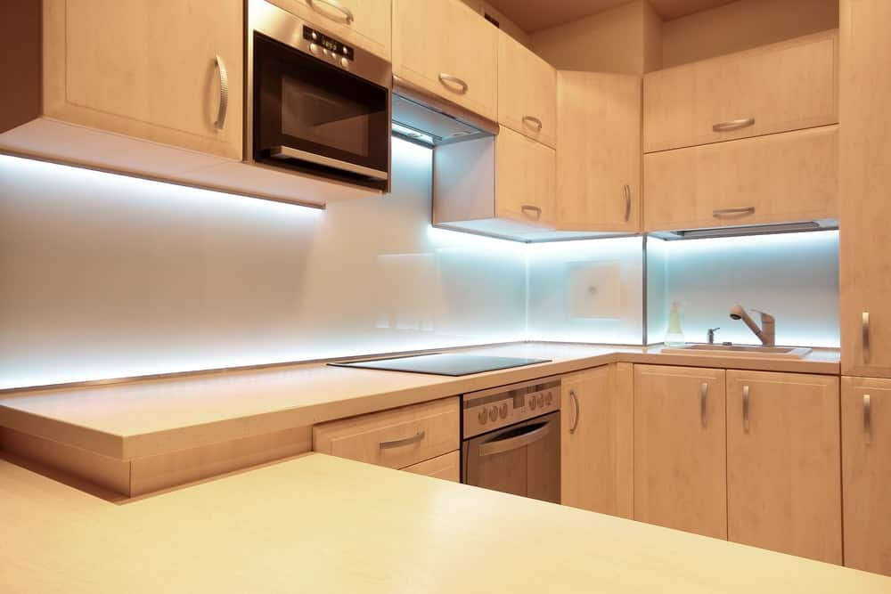 Kitchen cabinets light