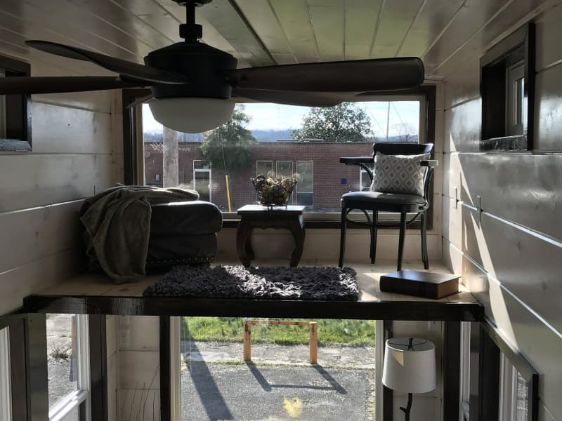 Living room loft concept in tiny home