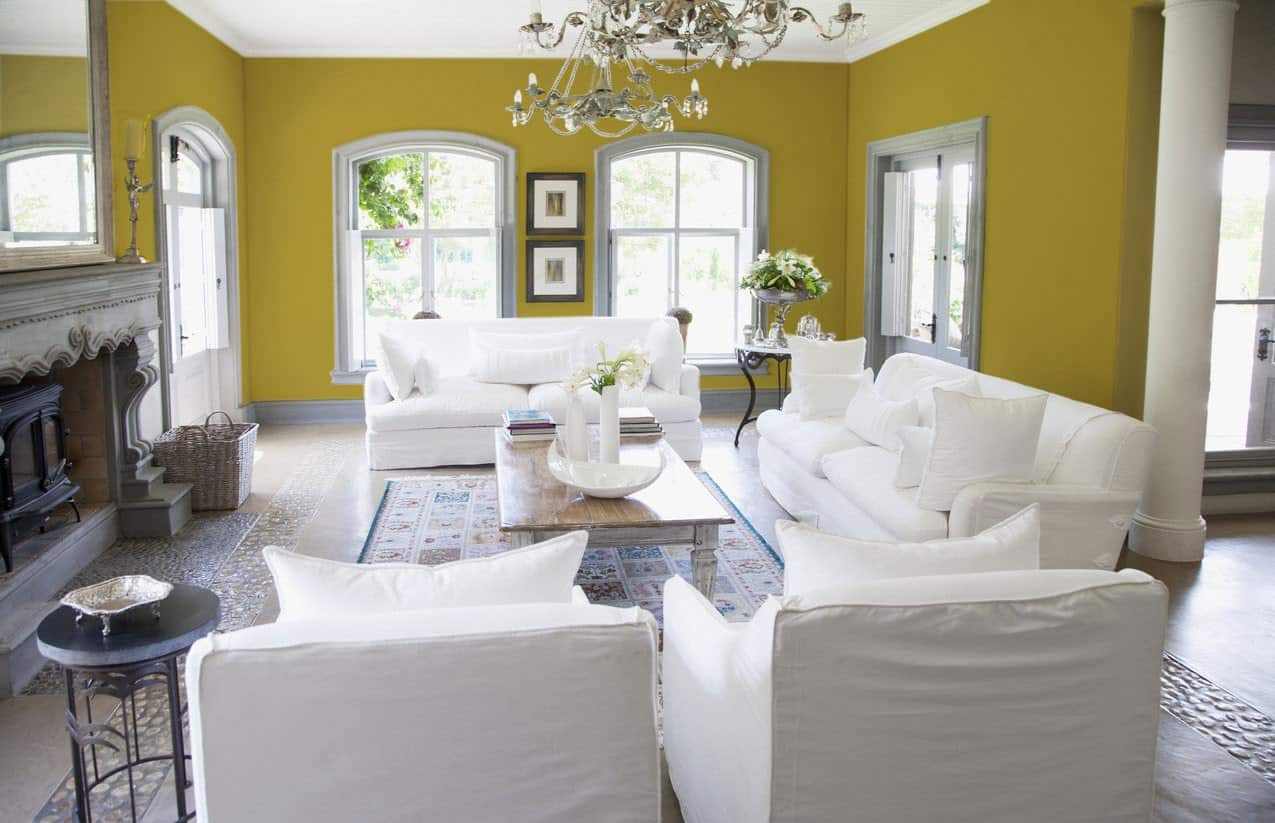 Taupe Living Room Interior - Pantone 119