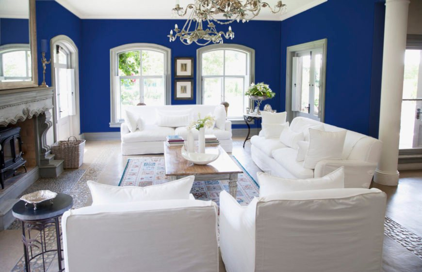 30 Blue Living Room Ideas for 2019