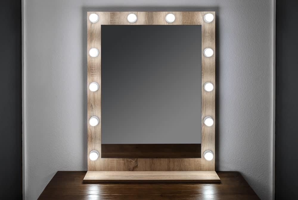 Mirror Lights in a Closet